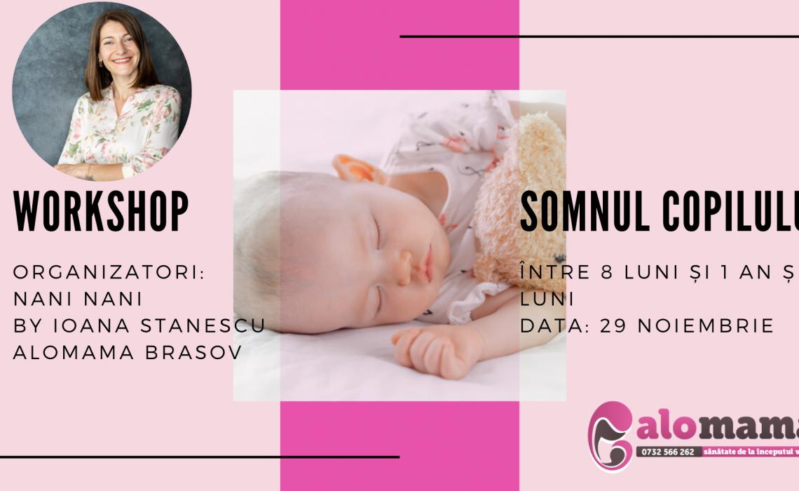 Workshop somnul copilului între 8 luni și 1 an și 4 luni